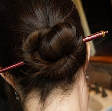 Chopstick Hairstyle fivetenfifteen do you ever put your hair up with a knot & a 3486 by wearticles.com
