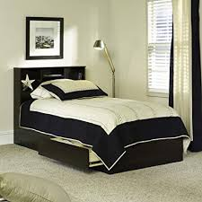 Amazon.com: Twin Beds with Storage Espresso Finish Twin Storage Bed ...