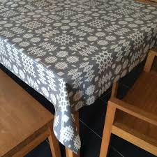 oilcloth tablecloth grey