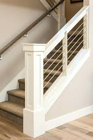 basement stairs ideas. Half Wall Staircase Best Peachy Basement Railing Ideas Open Stairs On With