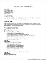 Office Assistant Resume Sample Awesome Office Assistant Resume