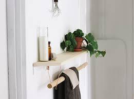 diy towel rack shelf the merrythought