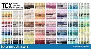 Color Table Pantone Fhi System Vector Color Palette With