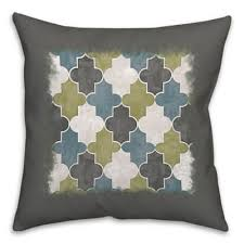 blue and green throw pillows. Geo Trend 16-Inch Square Throw Pillow In Green/Grey Blue And Green Pillows O