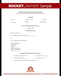 Patent Application Form Template Business