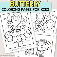 Butterfly Coloring Pages For Kids Itsy Bitsy Fun