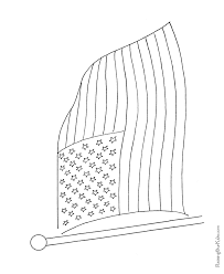 Preschool American Flag Coloring Page