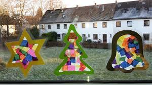 Weihnachten Fensterbilder Aus Transparentpapier Der Familienblog