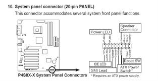 solved front panel connector diagram for m925alu fixya hope this helps thanks for using fixya
