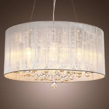 chandeliers with drum fabric shades thesecretconsulcom