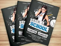 Back To School Party Flyer Template By Hotpin Dribbble Dribbble