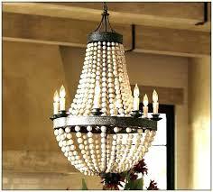 wooden bead chandelier beaded wood pottery barn bella chandeli wooden bead chandelier