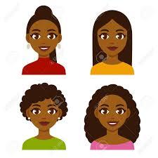 かわいい漫画黒自然なヘアスタイルと伸ばした髪の女の子かなりアフリカ