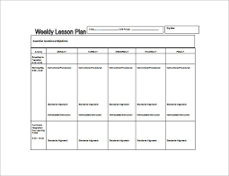 Sample Weekly Lesson Plan Classy Download Lesson Plan Template Gottayotti Metalrus