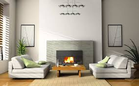 Living Room:Modern Living Room Design With Clean Fireplace And White Low  Sofa Clean and