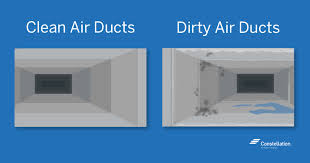 clean and dirty air duct comparison