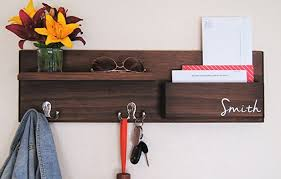 Coat Rack Mail Organizer Amazon Coat Rack Wall Organizer With Mail Storage And Key Hooks 86