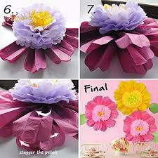 Large Tissue Paper Flower Nicrolandee 24 6 Pack Set Large Tissue Paper Flowers