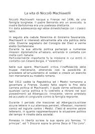 La vita di Niccolò Machiavelli e aneddoto dell'Albergaccio - Docsity