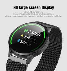 S16 כושר חכם שעון נשים ריצה קצב לב צג Bluetooth פדומטר מגע אינטליגנטי ...