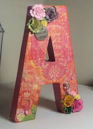 Paper Mache Decorating Make This Paper Mache Floral Letter Centerpiece For Your Wedding