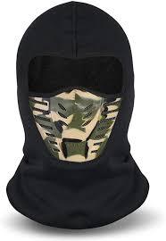 Mens Winter Balaclava Face Mask Cold Weather Windproof Fleece Ski Ninja Mask