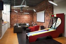 office game room. Home Office Decor Games. Design Living Social Game Room With Wall Brick Fun \\ M
