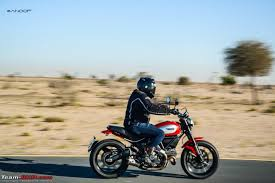 first ride ducati scrambler team bhp