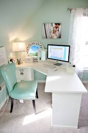 Office room diy decoration blue Interior Good Use Of Corner Mint Office Green Office Blue Office Decor White Pinterest Join Me On Fancy Discover Amazing Stuff Collect The Things You