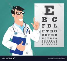Eye Charts Used By Doctors Optician Doctor With Snellen Eye Chart Doctor