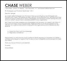 Mortgage Loan Processor Cover Letter Sample Cover Letter Templates