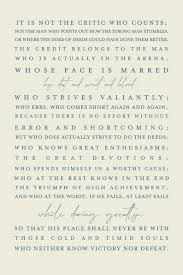 Roosevelts The Man In The Arena Quote Print Instant Download Quote Art
