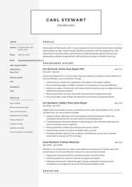 10 Best Car Mechanic Resume Samples Images Resume Examples