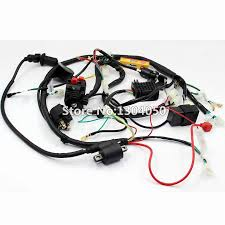 full electrics wiring harness cdi ignition coil key spark plug recitifier solenoid 150 200 250cc gy6