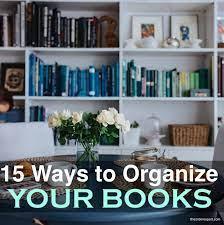 organize books on shelf 15 ways to try