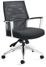 high end office chairs. Global Accord, 2677-4 Mesh Medium Back Knee-Tilter Meeting Chair - Track High End Office Chairs