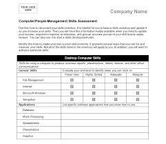 Job Skills Checklist Template