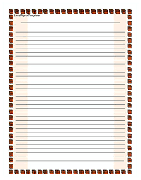Lined Paper Template Word 10 Lined Paper Templates Doc