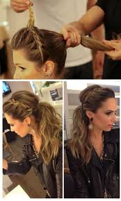 cute braided ponytail hairstyles low ponytail