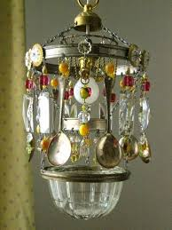 handcrafted bohemian kitchen chandelier crystals beads chains and spoons