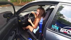 Girl She In Car Exhaust Pedal It - Custom A Revving Up On Sandals Pumping Loves Youtube Crappy And Cute
