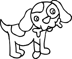 cute dog clipart black and white. Brilliant And Cute Dog Clipart Black And White  Gallery Throughout K