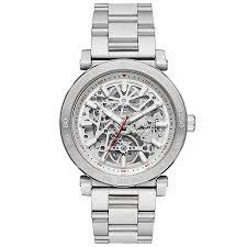 men s michael kors watches ernest jones michael kors men s stainless steel bracelet skeleton watch product number 6171915