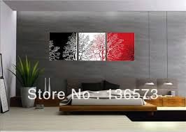 3 piece wall art sets handmade modern abstract still life black white red tree canvas painting oil artwork home decor pictures in painting calligraphy  on black red and white wall art with 3 piece wall art sets handmade modern abstract still life black