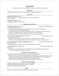 Examples Of Engineering Resumes Simple Example Resumes Engineering Career Services Iowa State University