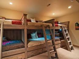 For When The Kids Are Big Kids (and We Actually Own A House And Can Do  This!) Love This Basement Bedroom, Perfect For Kids Sleepovers.