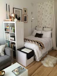 1 small bedroom ideas with a tall bookshelf