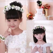 Flower Hair Style new elegant children girl flower headband bracelet lovely floral 3424 by wearticles.com