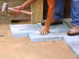 Sandstone Paver Patio   Patios  Flagstone Walkways  Steps How To Install Pavers In Backyard