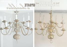 ideas paint brass chandelier for how